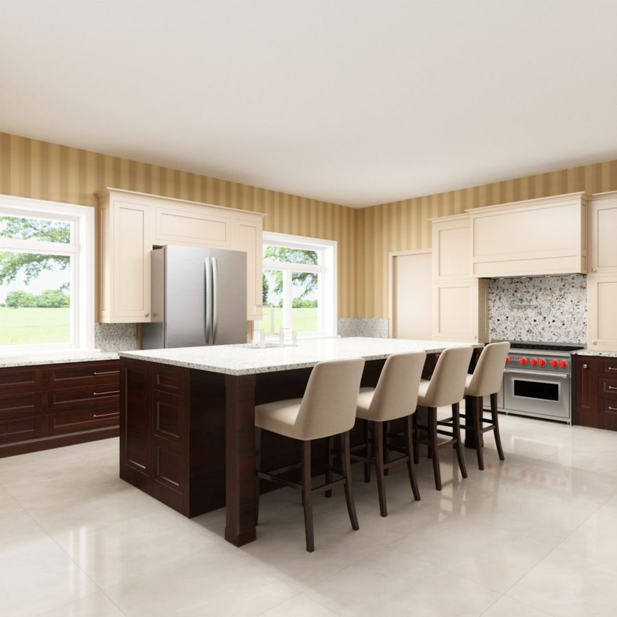 3Dキッチンブランコ royalty-free 3d model - Preview no. 1