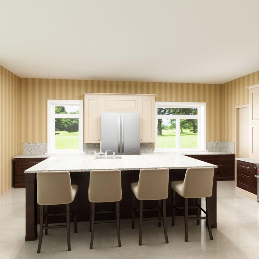3Dキッチンブランコ royalty-free 3d model - Preview no. 3