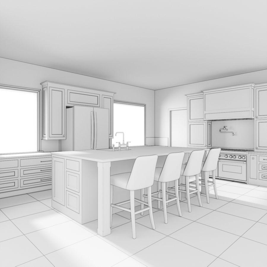 3Dキッチンブランコ royalty-free 3d model - Preview no. 5