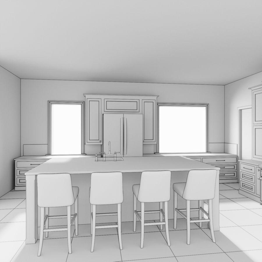 3Dキッチンブランコ royalty-free 3d model - Preview no. 7