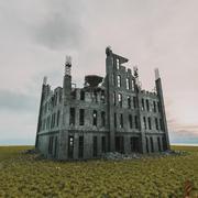 破壊された建物黙示録の生存PBR 3d model