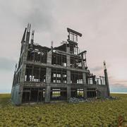 破壊された建物放棄後の黙示録 3d model