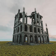 DESTROYED BUILDING OLD POST APOCALYPSE PBR REALISTIC ABANDONED 3d model