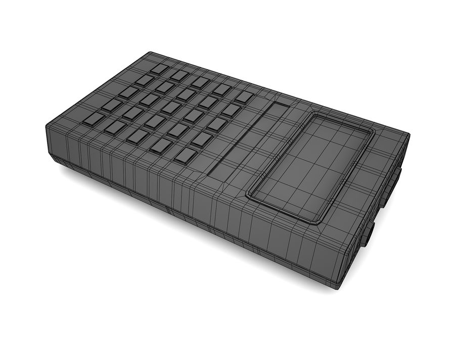Calculator Electronica B3-26 royalty-free 3d model - Preview no. 10