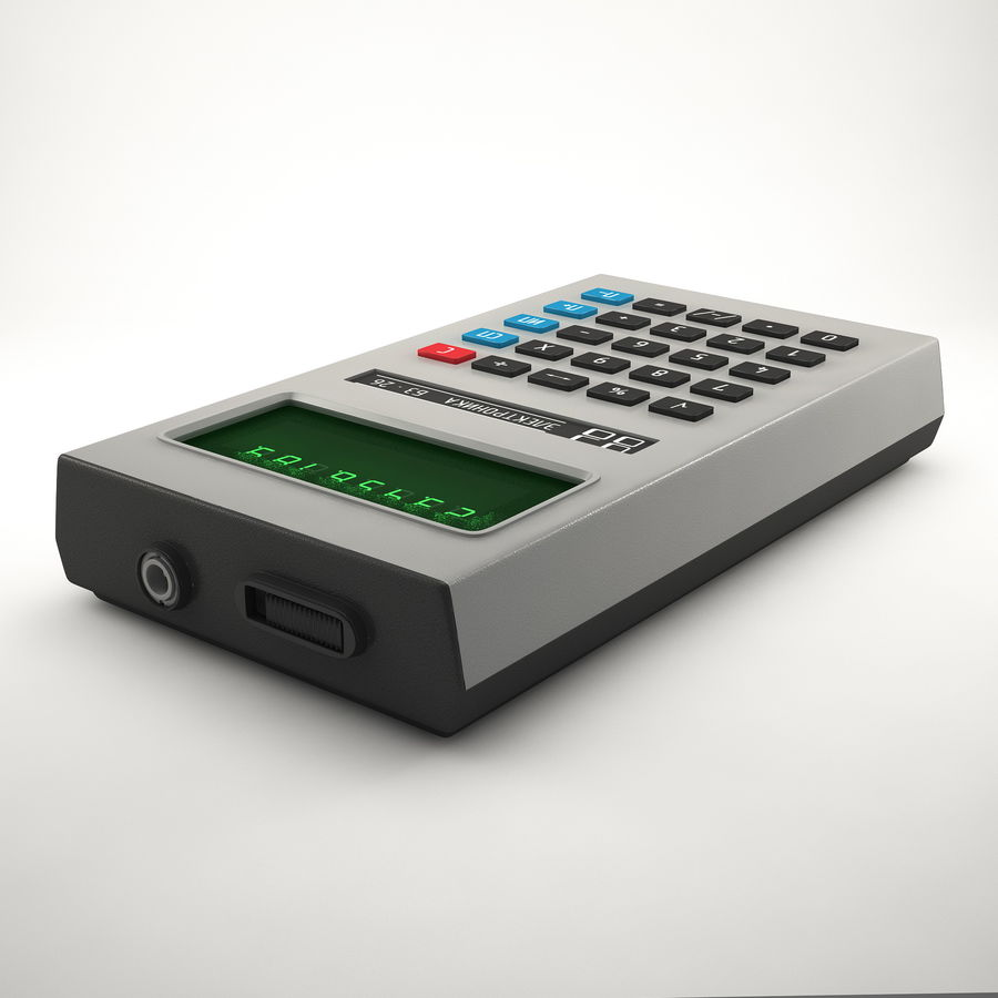 Calculator Electronica B3-26 royalty-free 3d model - Preview no. 2