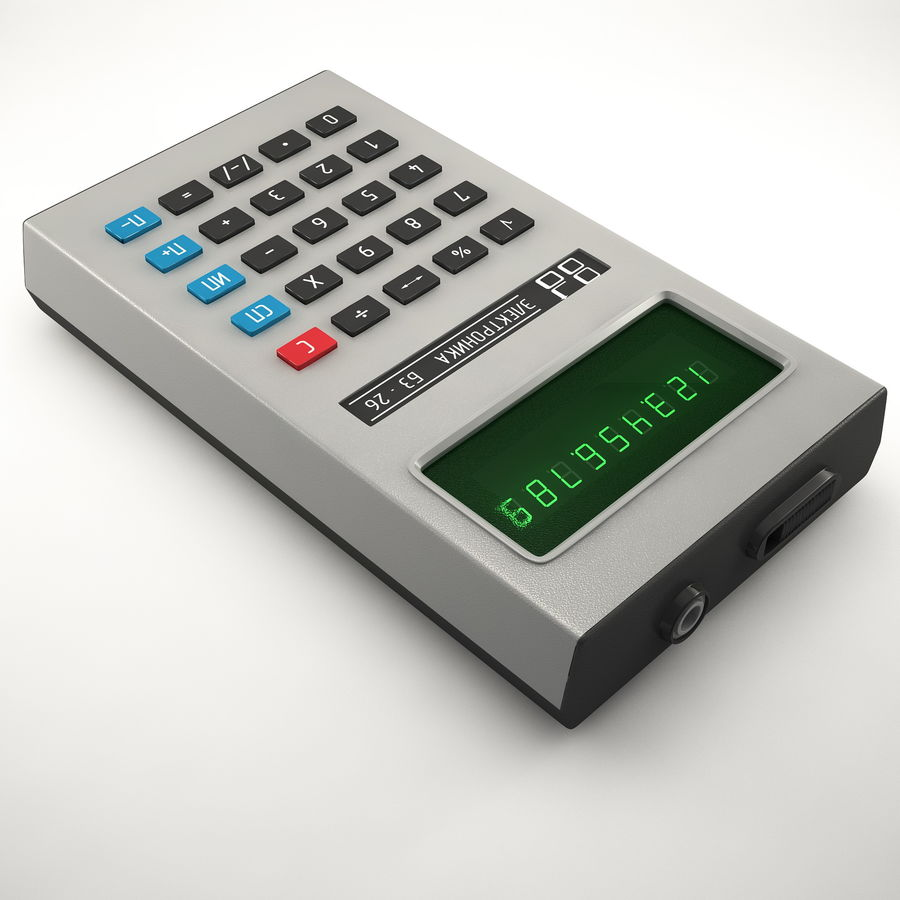 Calculator Electronica B3-26 royalty-free 3d model - Preview no. 4