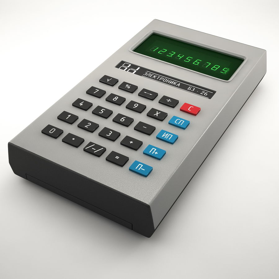Calculator Electronica B3-26 royalty-free 3d model - Preview no. 5