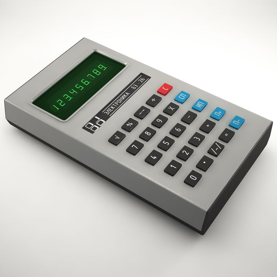 Calculator Electronica B3-26 royalty-free 3d model - Preview no. 1