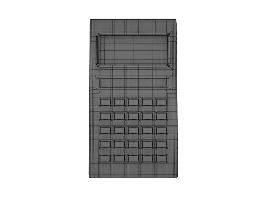Calculator Electronica B3-26 royalty-free 3d model - Preview no. 12