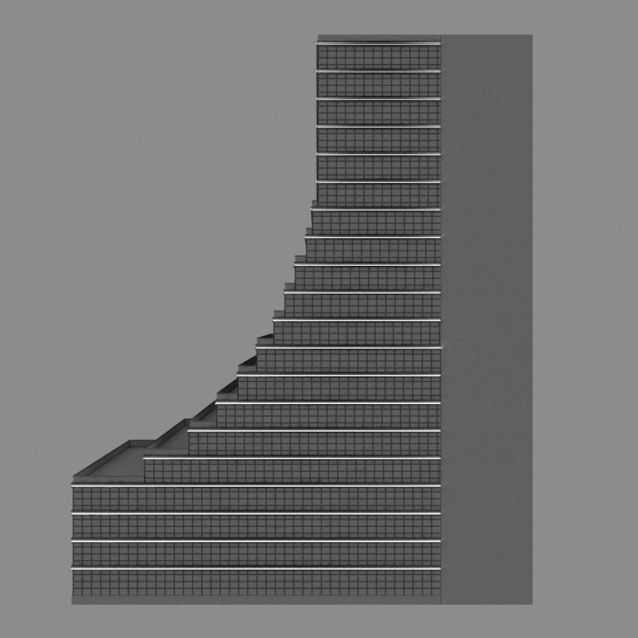 Modello semplice del grattacielo con l'animazione leggera principale scorrevole sulla facciata royalty-free 3d model - Preview no. 12