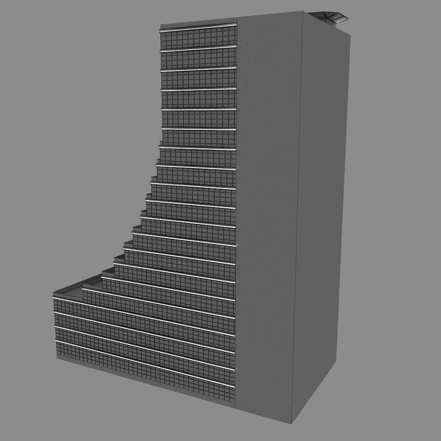 Modello semplice del grattacielo con l'animazione leggera principale scorrevole sulla facciata royalty-free 3d model - Preview no. 6