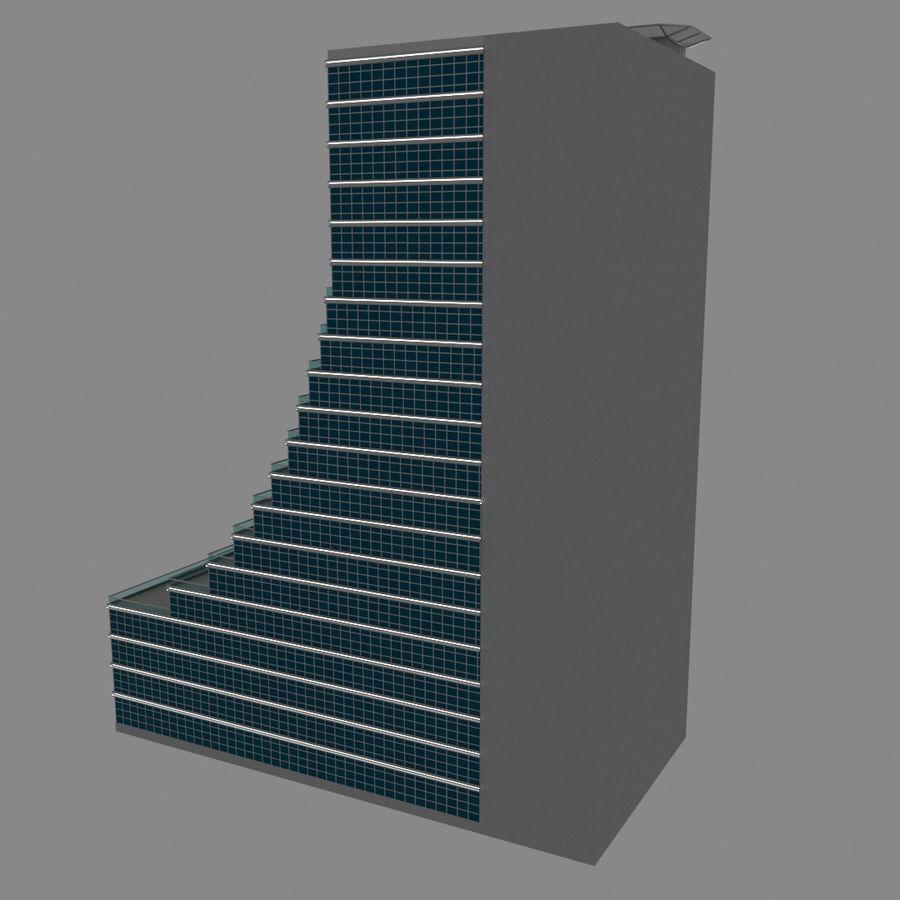 Modello semplice del grattacielo con l'animazione leggera principale scorrevole sulla facciata royalty-free 3d model - Preview no. 5
