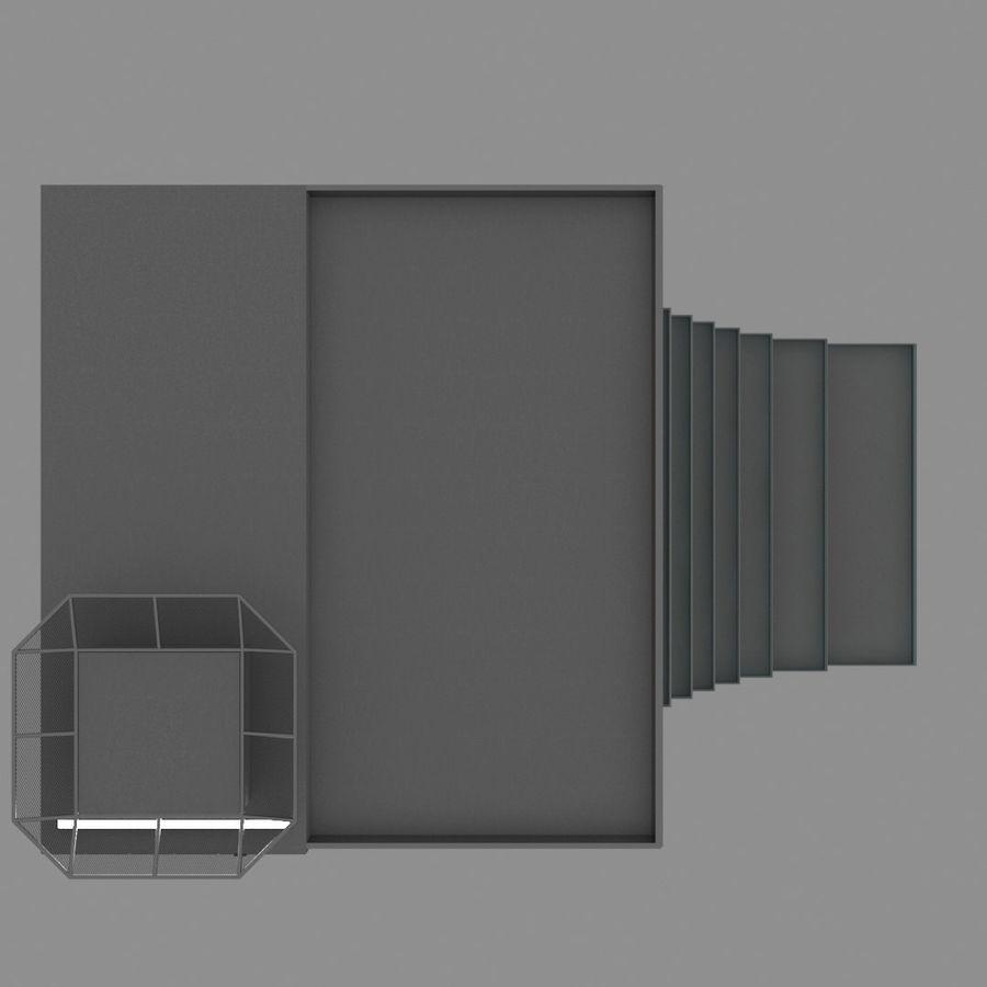 Modello semplice del grattacielo con l'animazione leggera principale scorrevole sulla facciata royalty-free 3d model - Preview no. 15