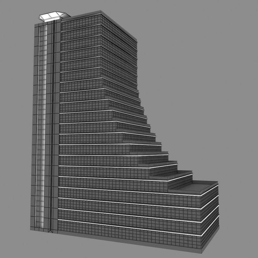 Modello semplice del grattacielo con l'animazione leggera principale scorrevole sulla facciata royalty-free 3d model - Preview no. 2