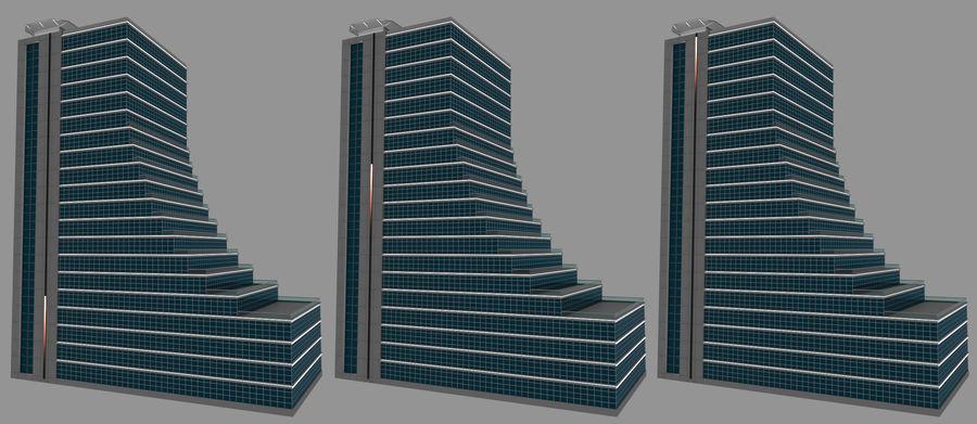 Modello semplice del grattacielo con l'animazione leggera principale scorrevole sulla facciata royalty-free 3d model - Preview no. 1