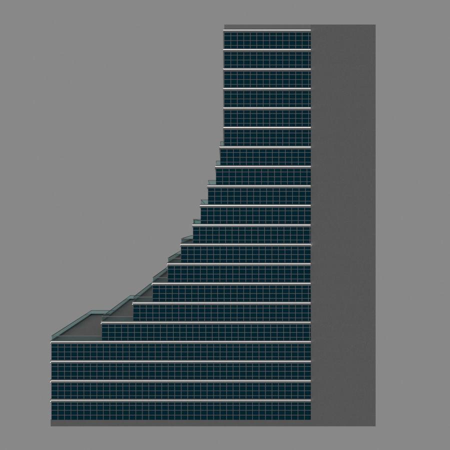 Modello semplice del grattacielo con l'animazione leggera principale scorrevole sulla facciata royalty-free 3d model - Preview no. 11