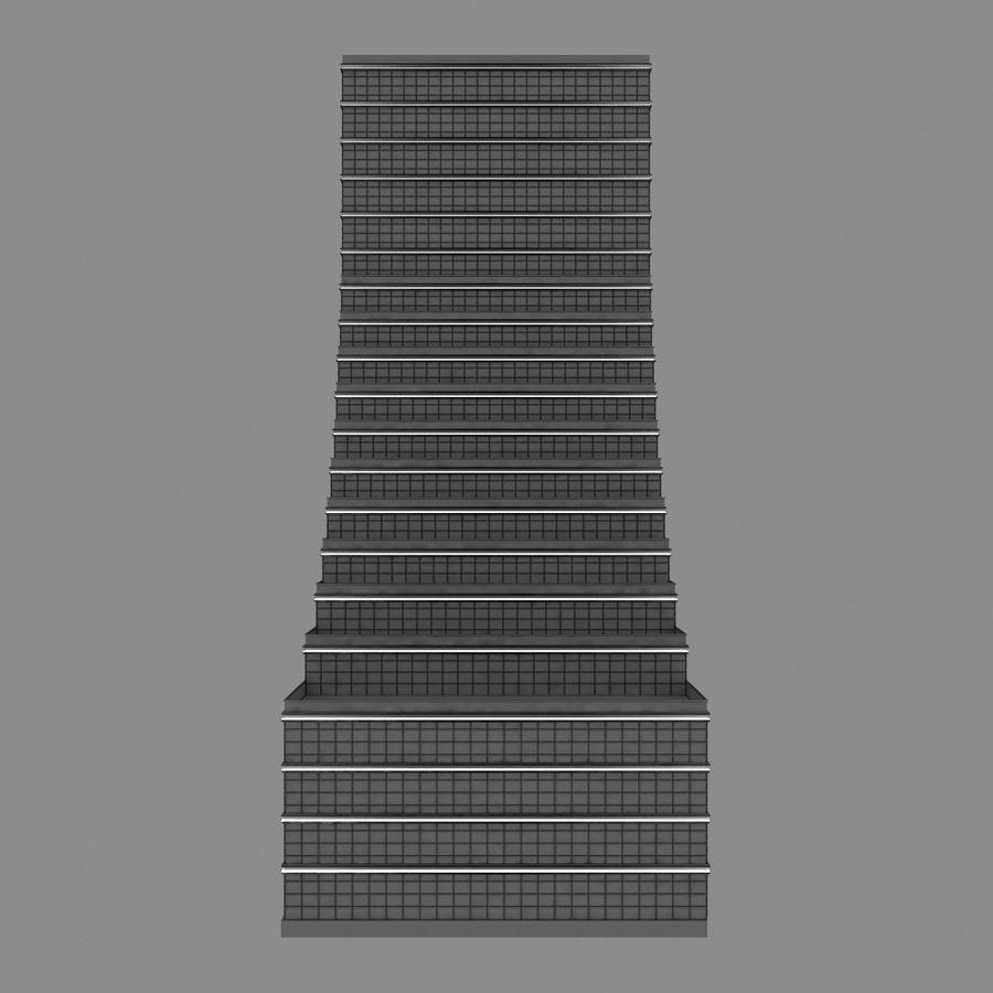 Modello semplice del grattacielo con l'animazione leggera principale scorrevole sulla facciata royalty-free 3d model - Preview no. 10