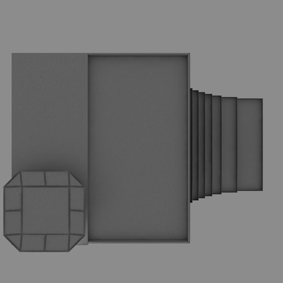 Modello semplice del grattacielo con l'animazione leggera principale scorrevole sulla facciata royalty-free 3d model - Preview no. 16