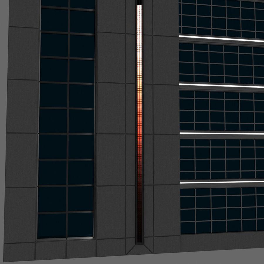 Modello semplice del grattacielo con l'animazione leggera principale scorrevole sulla facciata royalty-free 3d model - Preview no. 3