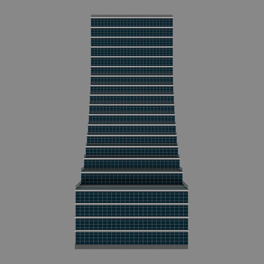 Modello semplice del grattacielo con l'animazione leggera principale scorrevole sulla facciata royalty-free 3d model - Preview no. 9