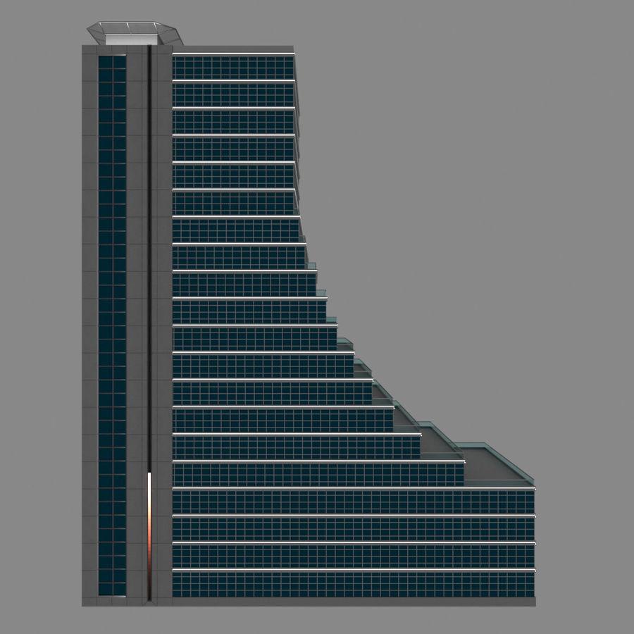 Modello semplice del grattacielo con l'animazione leggera principale scorrevole sulla facciata royalty-free 3d model - Preview no. 7