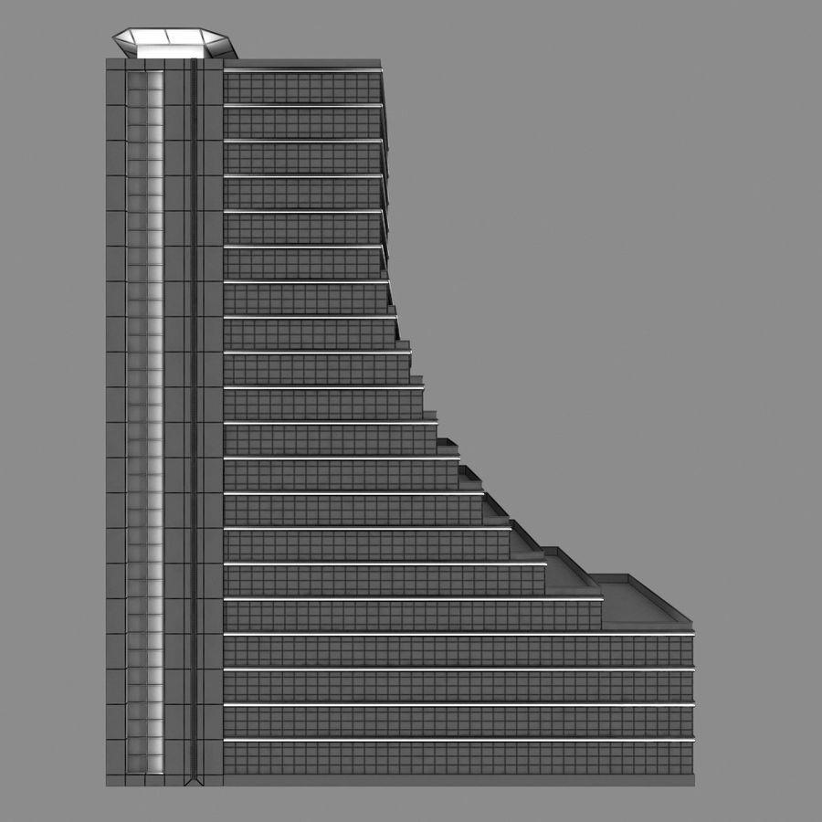 Modello semplice del grattacielo con l'animazione leggera principale scorrevole sulla facciata royalty-free 3d model - Preview no. 8