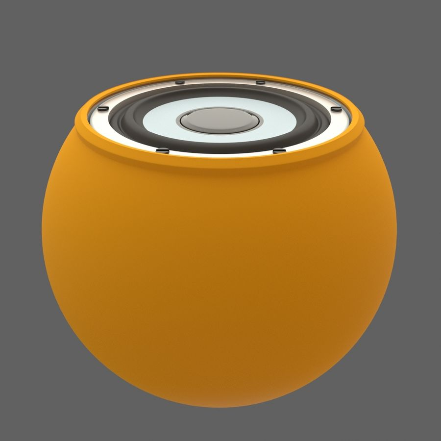 Bluetooth Портативный Динамик royalty-free 3d model - Preview no. 3
