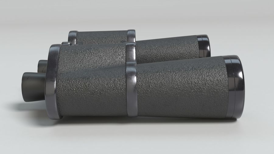 Binoculars royalty-free 3d model - Preview no. 5