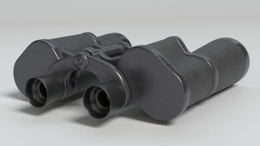 Binoculars royalty-free 3d model - Preview no. 4