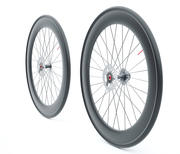Carbon wheels road bike disc 3d model