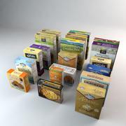 Collection d'aliments biologiques en boîte 3d model