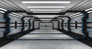 Corredor de ciencia ficción modelo 3d