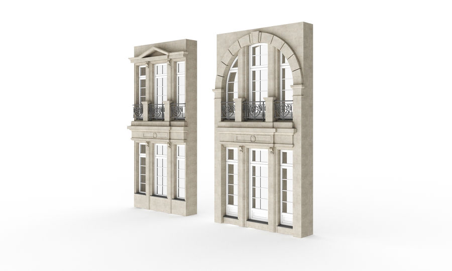 Klasyczne okna zewnętrzne royalty-free 3d model - Preview no. 3