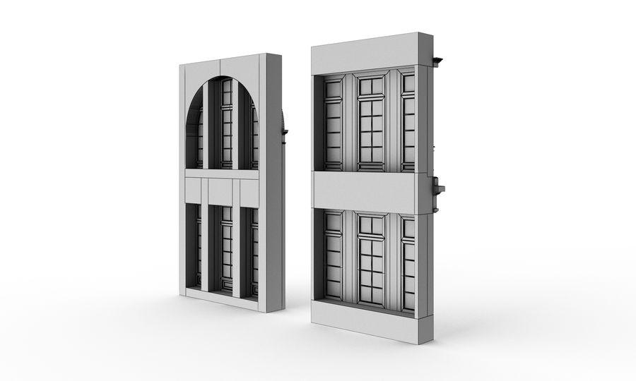 Klasyczne okna zewnętrzne royalty-free 3d model - Preview no. 8