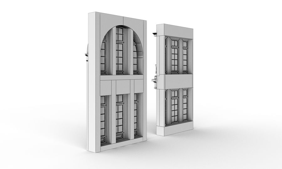 Klasyczne okna zewnętrzne royalty-free 3d model - Preview no. 6