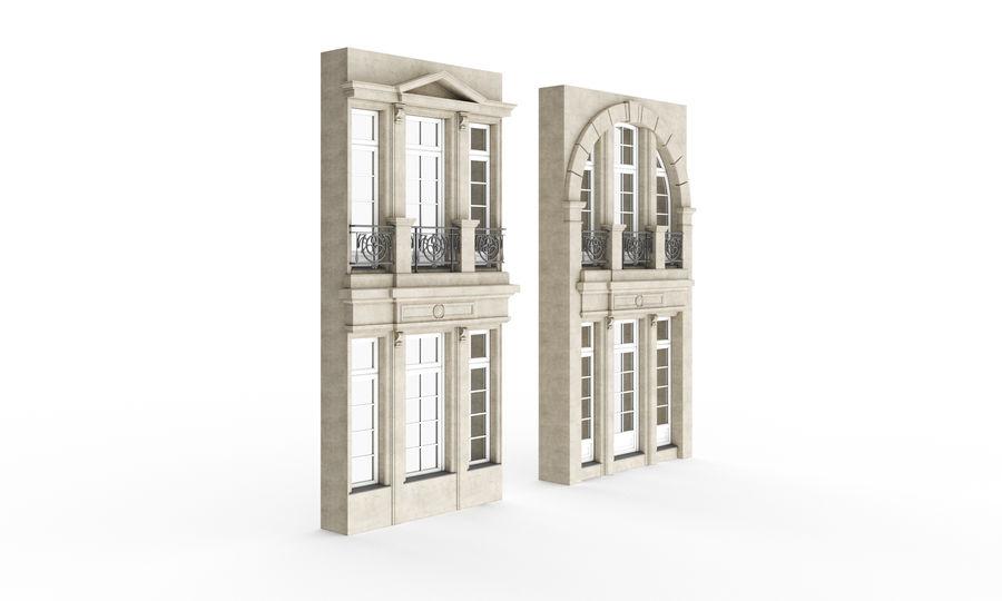 Klasyczne okna zewnętrzne royalty-free 3d model - Preview no. 1