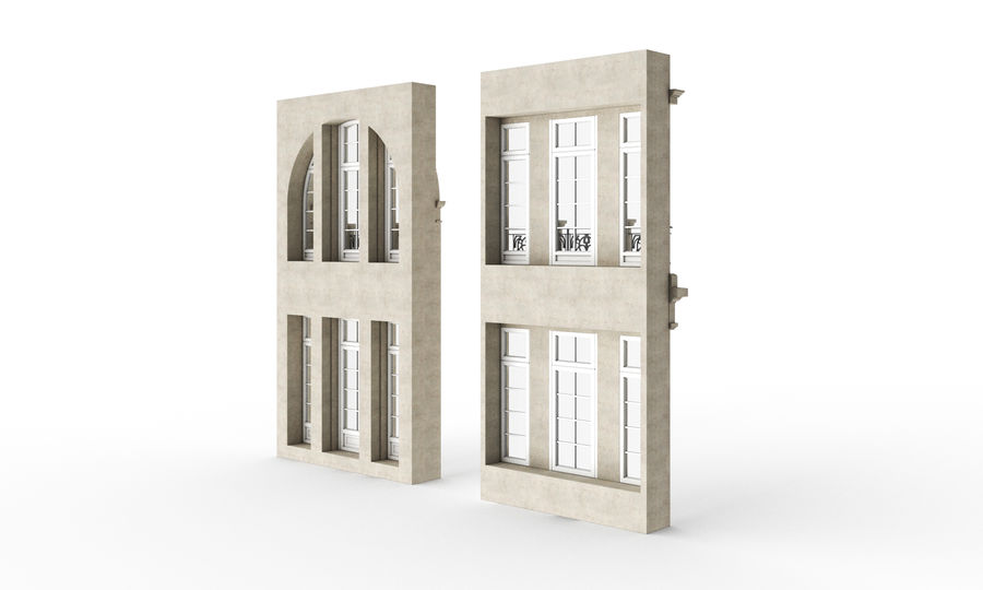 Klasyczne okna zewnętrzne royalty-free 3d model - Preview no. 7