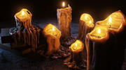 融化的蜡烛 3d model
