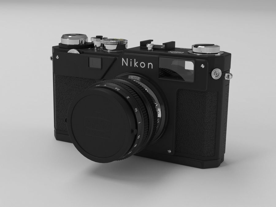 Nikon Film Camera royalty-free 3d model - Preview no. 5