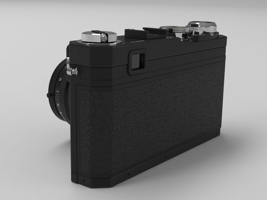 Nikon Film Camera royalty-free 3d model - Preview no. 4
