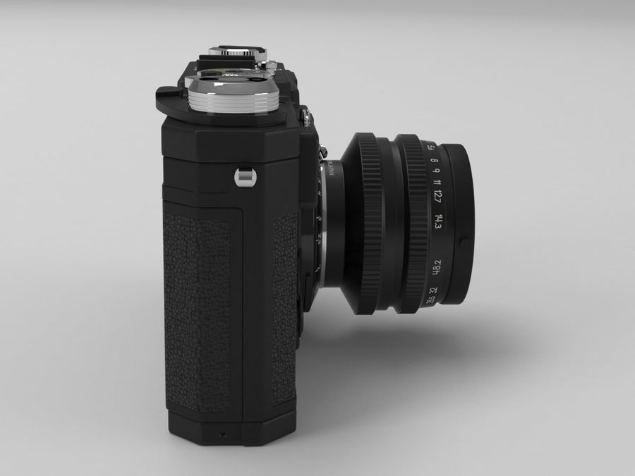 Nikon Film Camera royalty-free 3d model - Preview no. 3