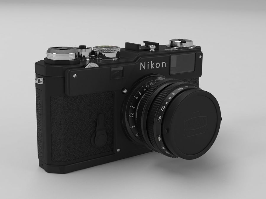 Nikon Film Camera royalty-free 3d model - Preview no. 2