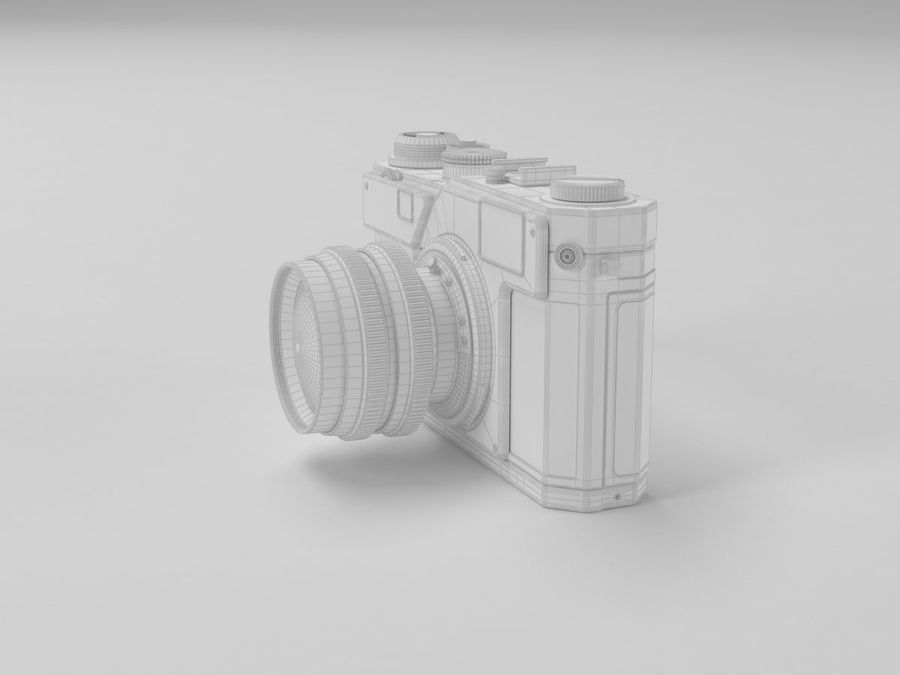 Nikon Film Camera royalty-free 3d model - Preview no. 6
