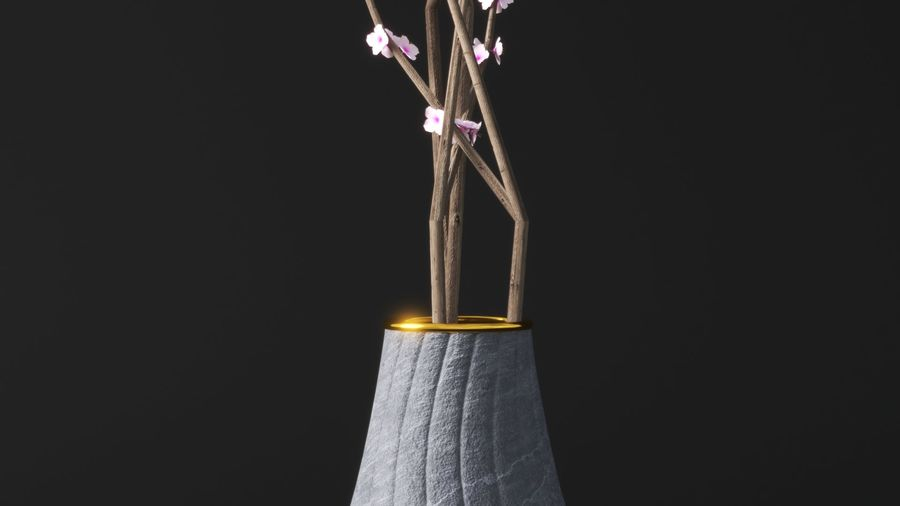 Blossom Vase royalty-free 3d model - Preview no. 2