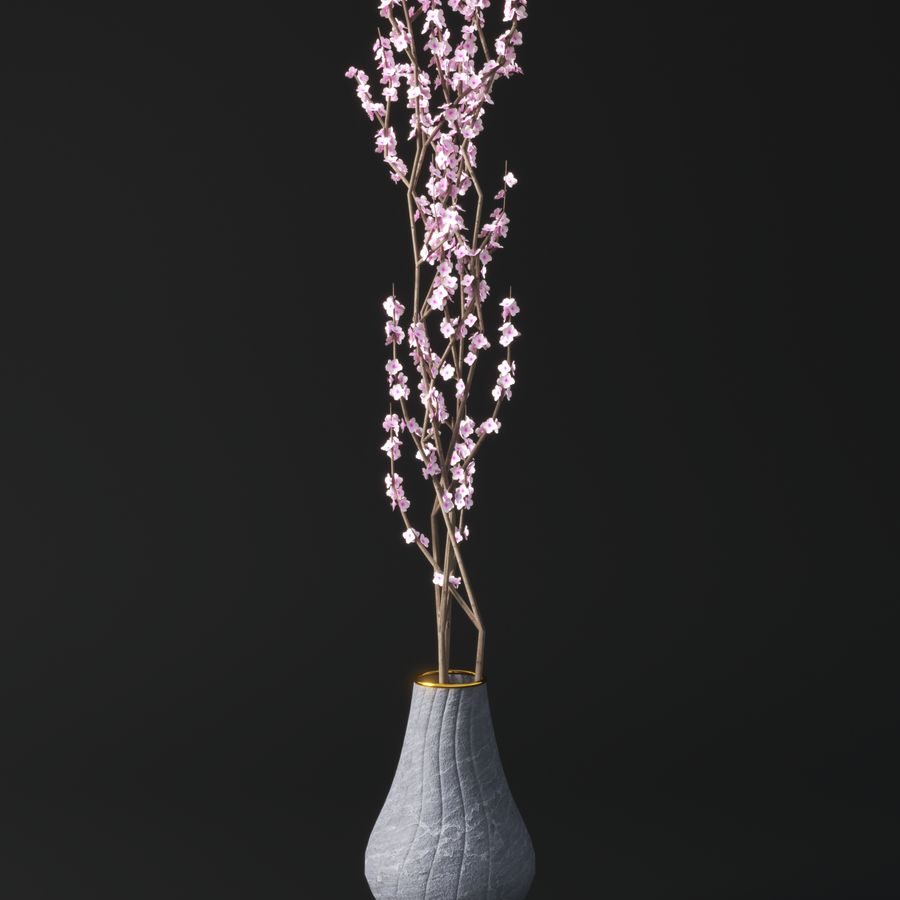 Blossom Vase royalty-free 3d model - Preview no. 1