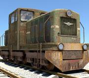 OLD Russian Train 3d model