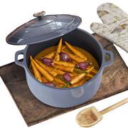Küchenset mit Gemüse 3d model