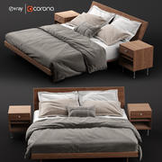 Nelson Thin Edge Bed 3d model