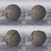 Vaisseau spatial de science-fiction C4D A 001 non texturé 3d model