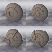 Vaisseau spatial C4D Sci-Fi A 002 non texturé 3d model